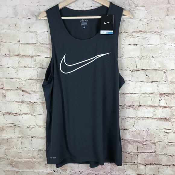 sports shoes cf98d 56b13 NEW Nike Dri Fit Tank Top Size L Men Gray